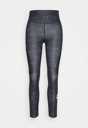 AIR - Leggings - black/volt