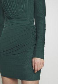 Hervé Léger - RUCHED LONGSLEEVE MINI - Sukienka z dżerseju - bright elm - 6