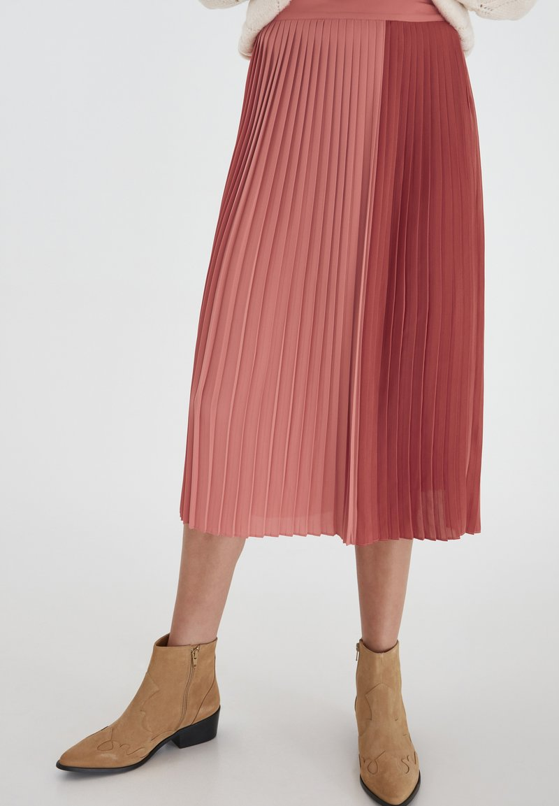 ICHI - A-line skirt - dusty cedar