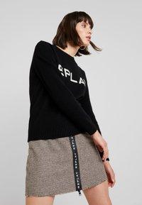 Replay - SKIRT - A-line skirt - ecru/dark brown - 3