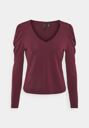 VMANNE V NECK PUFF - Longsleeve - fig