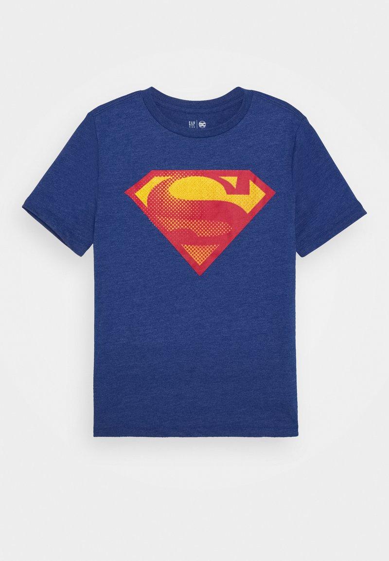 GAP - BOY SHIELD TEE - Print T-shirt - brilliant blue