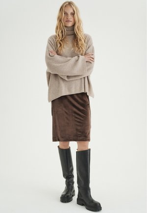 ORIELIW - Pencil skirt - copper