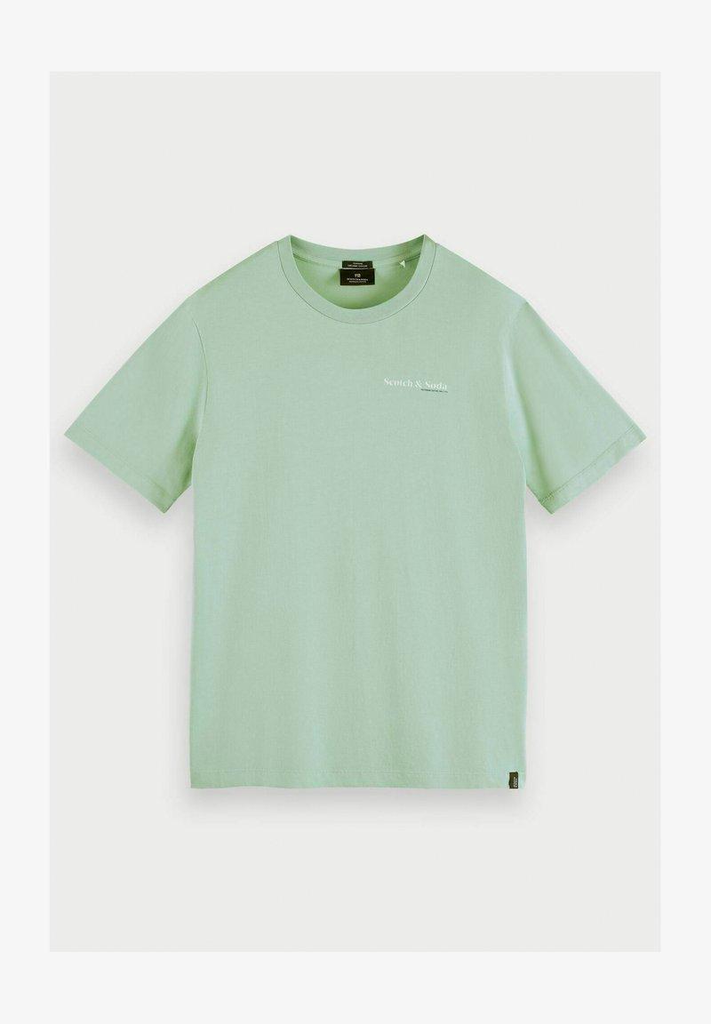 Scotch & Soda - Print T-shirt - seafoam