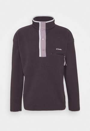 HELVETIA™ HALF SNAP - Fleece jumper - dark purple/shale purple