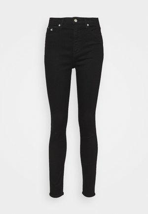 HIGH RISE ANKLE - Jeans Skinny - denim black