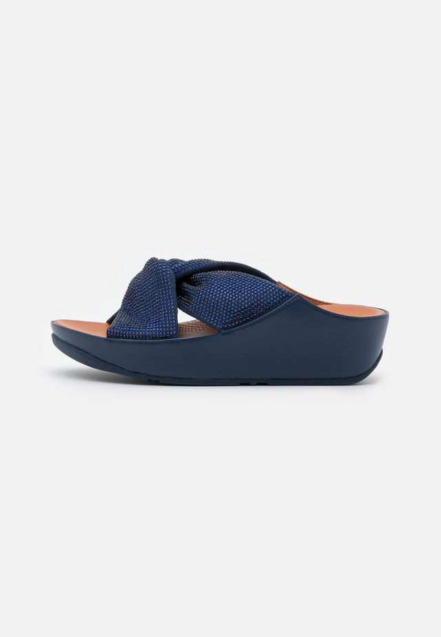 TWISS CRYSTAL SLIDE - Ciabattine - navy blue