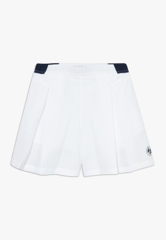 TENNIS ROLAND GARROS - Krótkie spodenki sportowe - white/navy blue