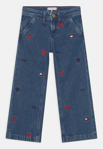 WIDE LEG PLEATS - Relaxed fit jeans - blue denim