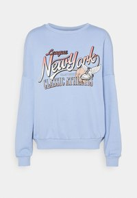 Even&Odd - Printed Crew Neck Sweatshirt - Sweatshirts - blue - 6
