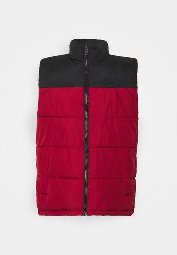 JJPAUL BODYWARMER COLLAR - Waistcoat - red dahlia