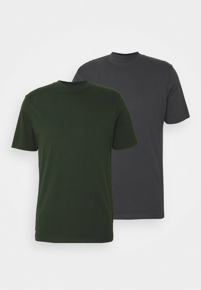 TURTLE 2 PACK - T-shirt basic - grey/green