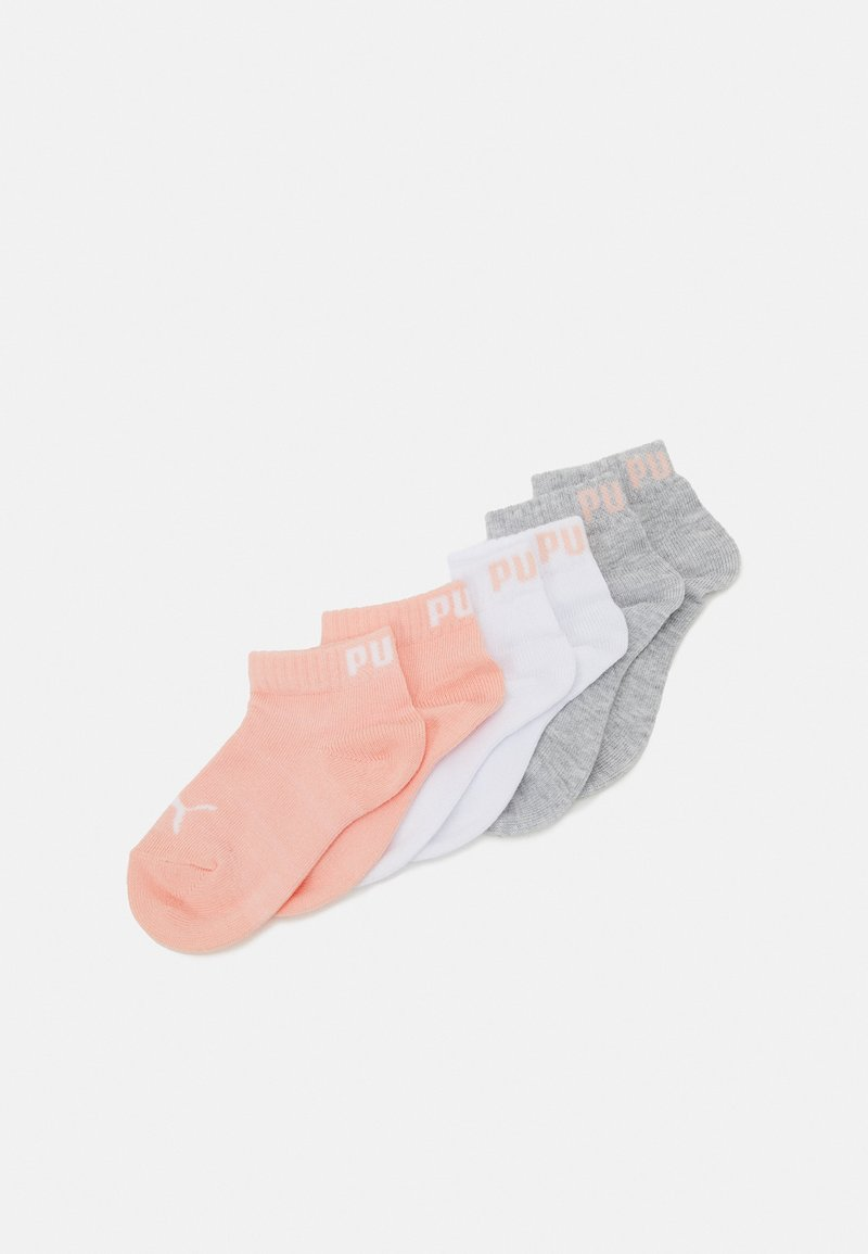Puma - KIDS QUARTER 6 PACK UNISEX - Socks - grey/white