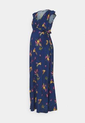 MARGUERITE - Maxi šaty - navy blue/multicolour