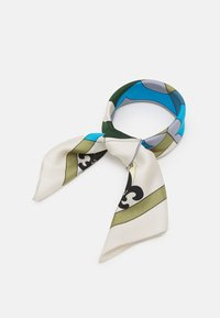 Tory Burch - COMPASS NECKERCHIEF WITH CHARMS - Foulard - olive - 0