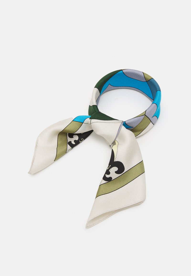 Tory Burch - COMPASS NECKERCHIEF WITH CHARMS - Foulard - olive