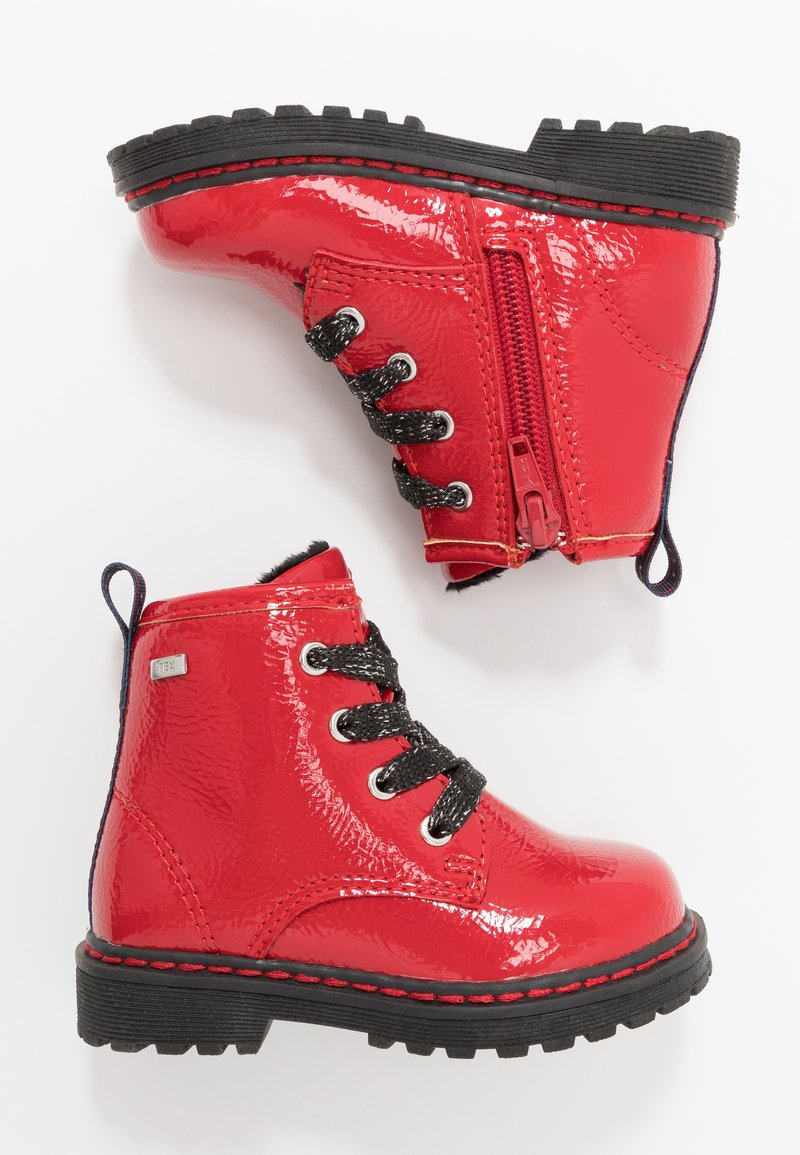 TOM TAILOR - Lace-up ankle boots - red
