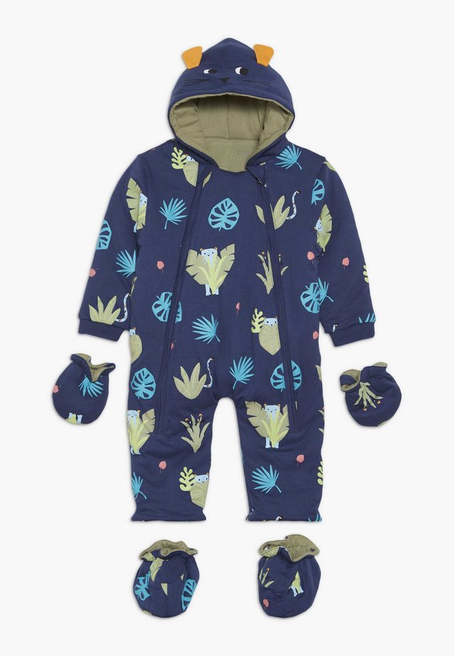 SPOT THE LEOPARD JUNGLE BABY - Jumpsuit - dark blue