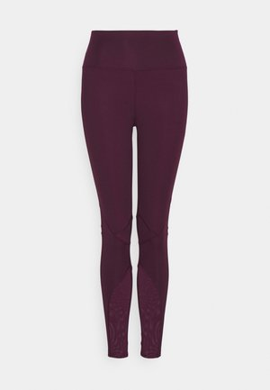 PANELLED INSERT LEGGING - Leggings - fig