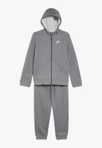 Nike Sportswear - CORE SET - Tracksuit - carbon heather/dark grey/white - 0