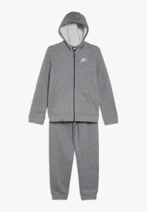 CORE SET  - Tracksuit - carbon heather/dark grey/white