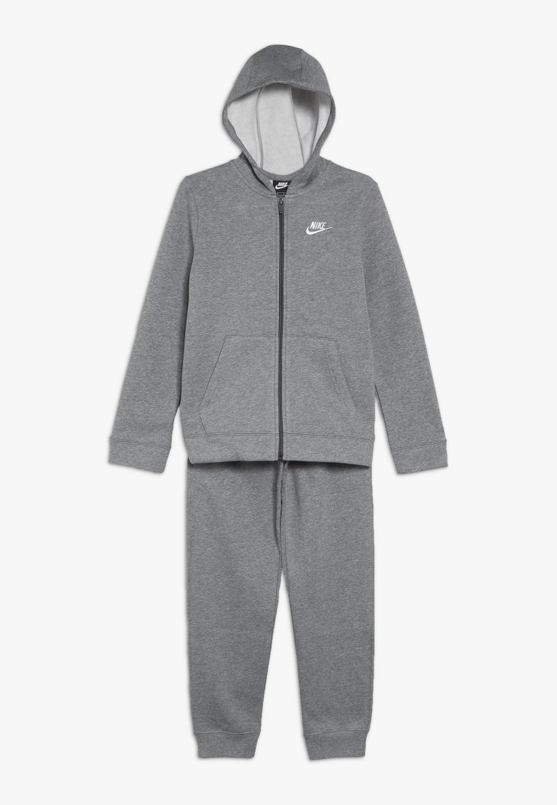 Nike Sportswear - CORE SET - Tracksuit - carbon heather/dark grey/white