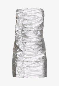 Third Form - DRIFTER FRILL STRAPLESS - Vestito elegante - silver - 4