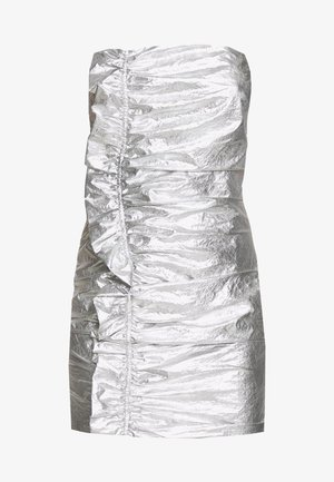 DRIFTER FRILL STRAPLESS - Koktejlové šaty/ šaty na párty - silver