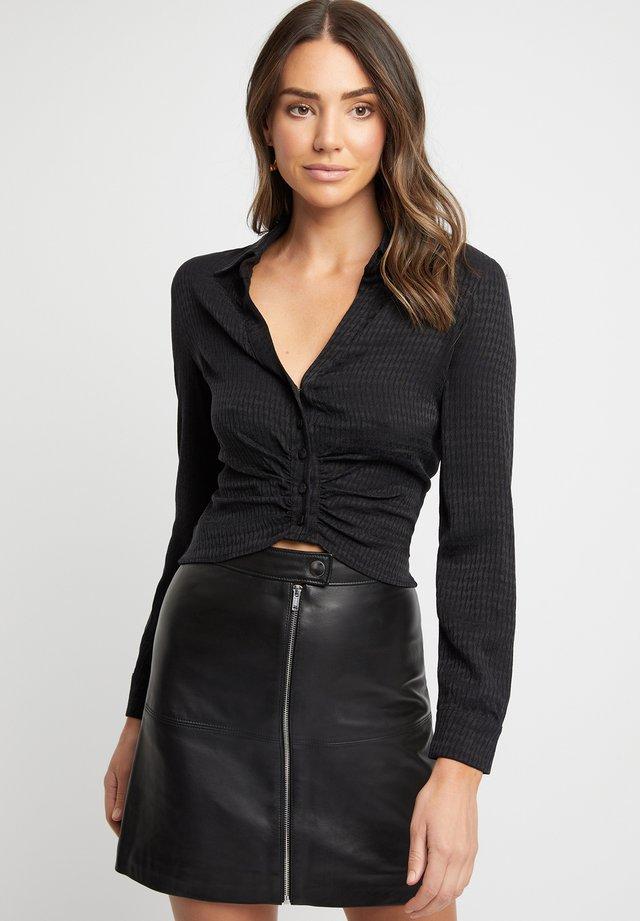 Overhemdblouse - noir