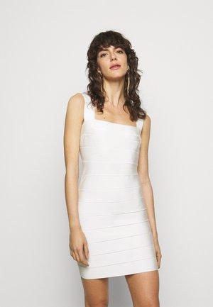 CUT OUT DRESS - Juhlamekko - alabaster