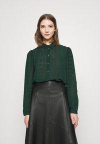 JDY - JDYDIANE PUFF SHIRT - Button-down blouse - scarab - 0