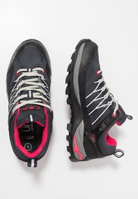 CMP - RIGEL LOW TREKKING SHOE WP - Hiking shoes - antracite/offwhite - 1