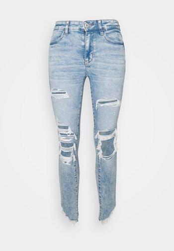 HI RISE CROP - Jeans Skinny Fit - cloud wash