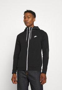 Nike Sportswear - Zip-up sweatshirt - black/ice silver/white - 0