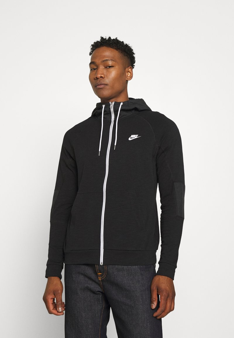 Nike Sportswear - Zip-up sweatshirt - black/ice silver/white