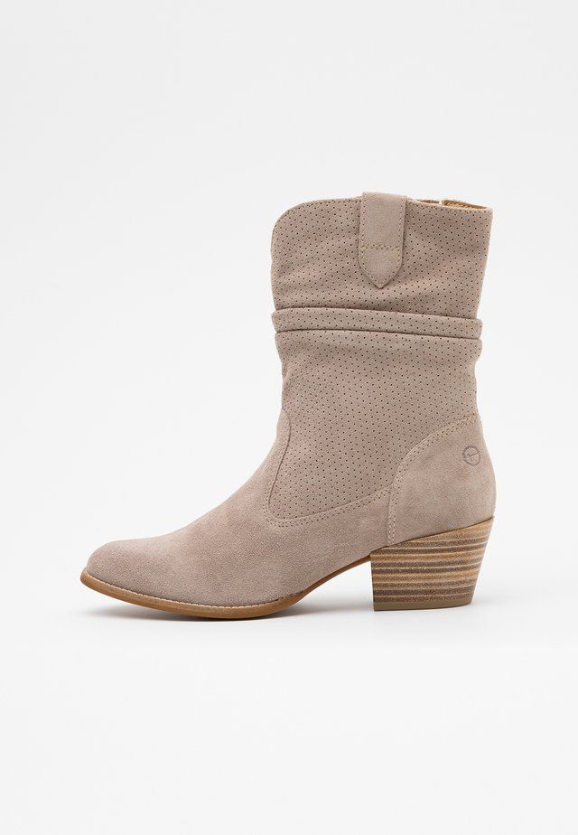 BOOTS - Cowboy/biker ankle boot - taupe