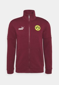 Puma - BVB BORUSSIA DORTMUND CULTURE TRACK  - Club wear - burgundy/cyber yellow - 3