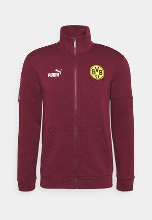 BVB BORUSSIA DORTMUND CULTURE TRACK  - Club wear - burgundy/cyber yellow