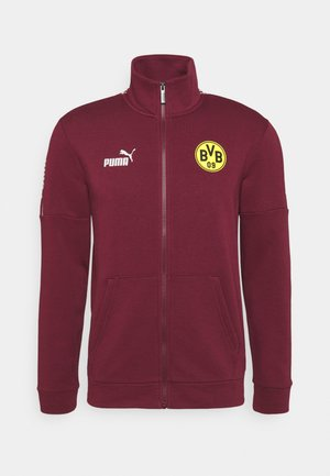 BVB BORUSSIA DORTMUND CULTURE TRACK  - Klubbkläder - burgundy/cyber yellow