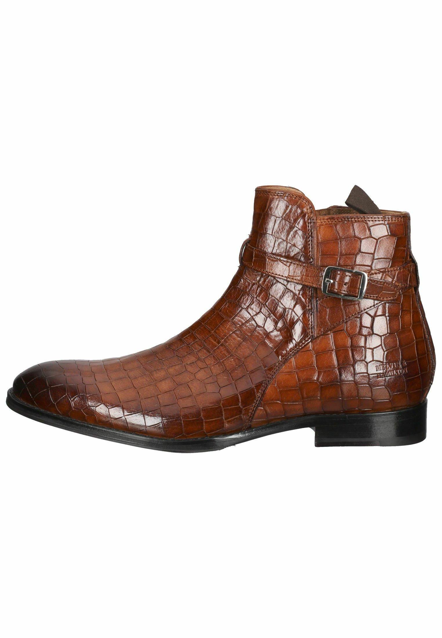 Herren Cowboy-/Bikerstiefelette - crock mid brown kane