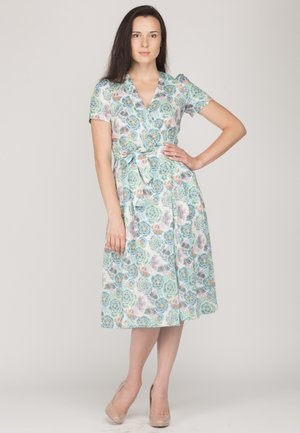 Vestido informal - white/green