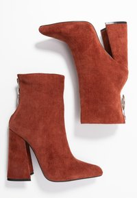 Dorothy Perkins - LOLA SKYE LAKE OVERSIZED RING POINT BOOT - High heeled ankle boots - brown - 3