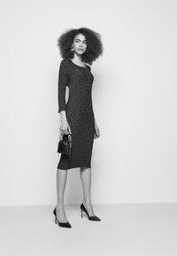 LIU JO - ABITO MAGLIA - Shift dress - black - 4