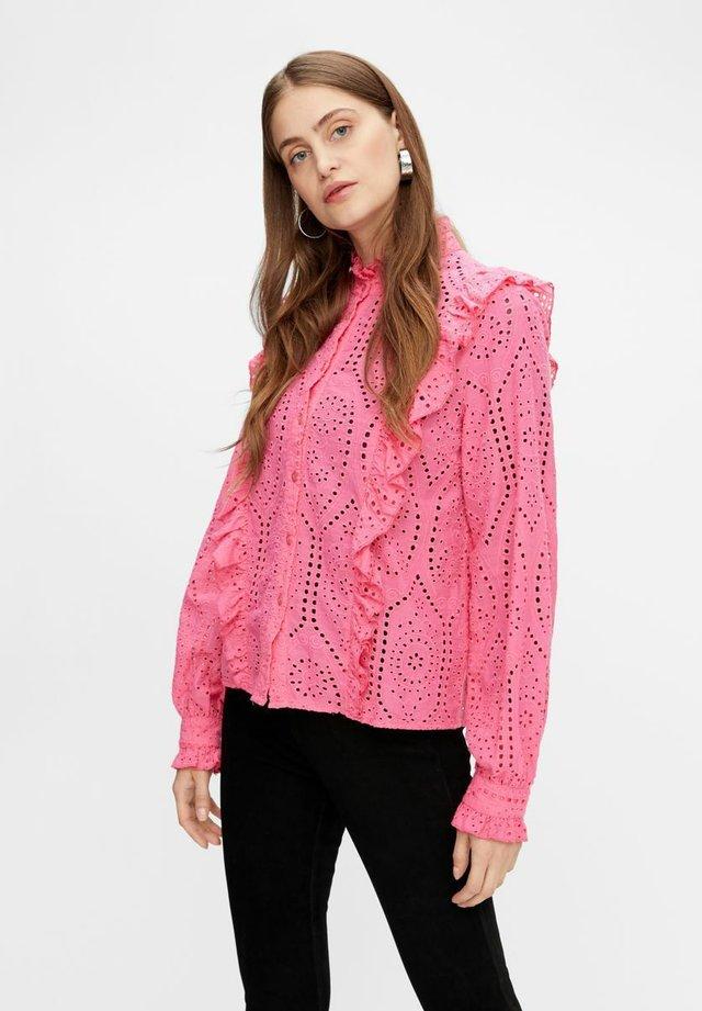 Overhemdblouse - pink glo