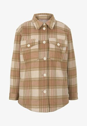 CHECKED OVERSHIRT - Summer jacket - camel rose check