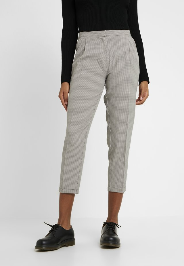 CHECKED CITY PANTS - Pantalon classique - beige