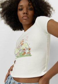 Stradivarius - T-shirt imprimé - white - 3