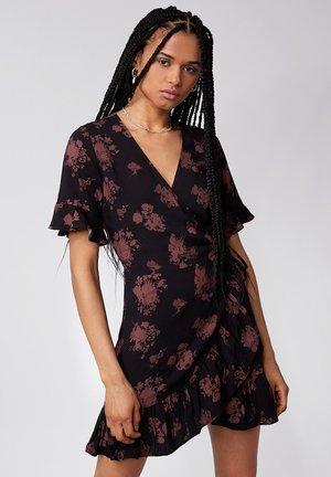 Korte jurk - black/mahogany