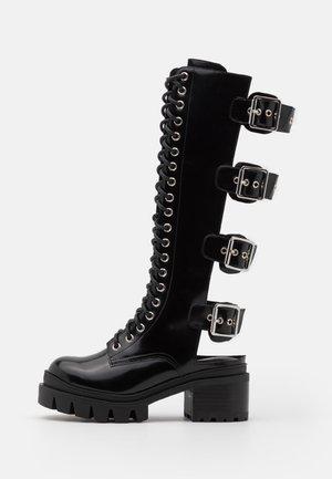 TANK GIRL - Botas con cordones - black box