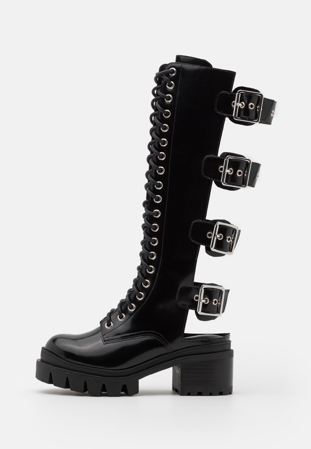 TANK GIRL - Lace-up boots - black box
